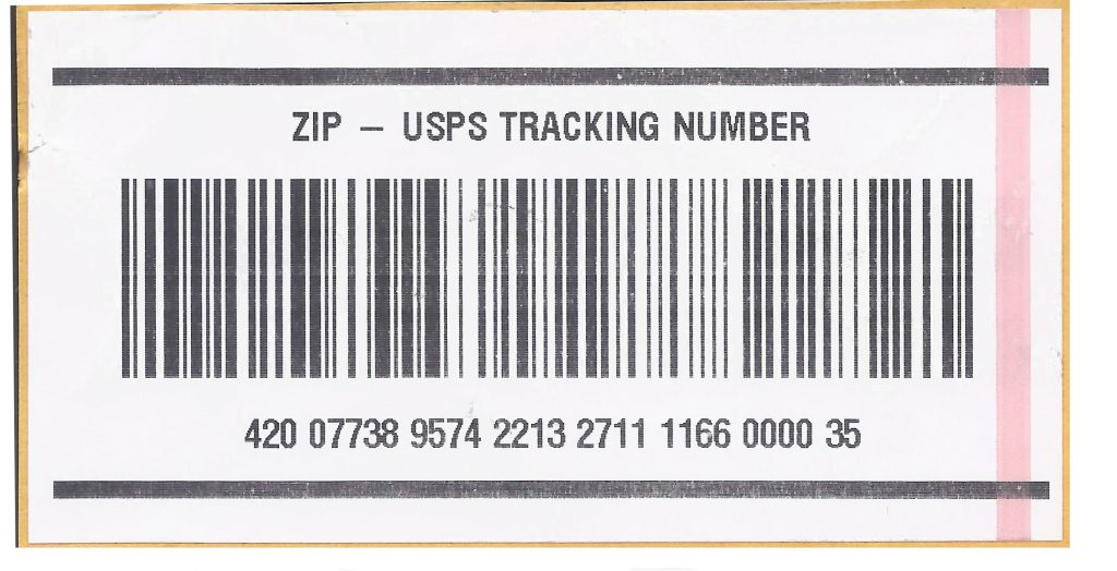 What is the USPS Tracking Number
