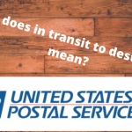 What does in transit to destination mean